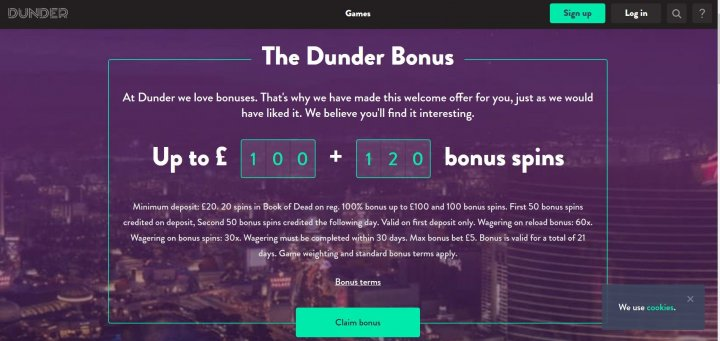 Dunder Casino Bonus Codes 2021