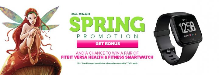Casino Luck Spring Promo – Free Spins & Prize Draw to Win a FitBit!