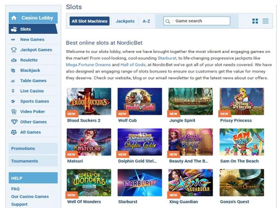 Nordicbet live casinos